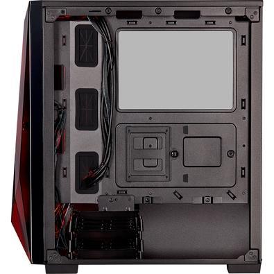Gabinete Gamer Corsair Carbide Series Spec Delta RGB, Mid-Tower, 3 Fans, Vidro Temperado, Preto - CC-9011166-WW