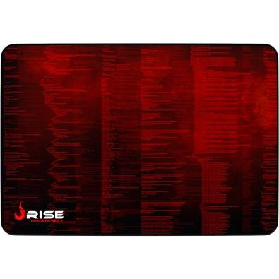 Mousepad Gamer Rise Mode Hacker, Speed, Grande (420x290mm), Vermelho - RG-MP-05-HCKR