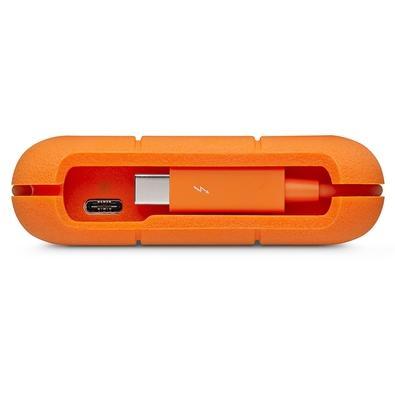 HD LaCie Externo Rugged Thunderbolt, 2TB, USB 3.1-C, Clay Orange - STFS2000800