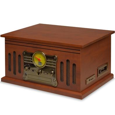 Toca Discos Vitrola Raveo Stadio - Bluetooth, USB Reproduz e Grava, Aux. 25W