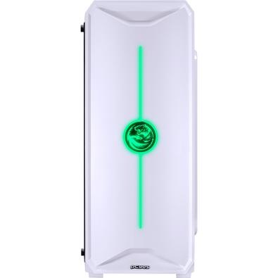 Gabinete Gamer PCYes Nova, Mid Tower, LED, Lateral em Acrílico, Branco - NOVBC7C1FCA