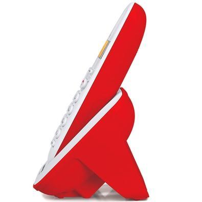 Telefone Intelbras Sem Fio TS3110 Branco e Vermelho