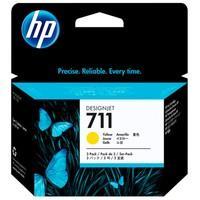 Cartucho de Tinta HP Designjet 711, Amarelo - CZ136AB