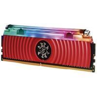 Memória Adata XPG Spectrix D80, RGB, 8GB, 3000MHz, DDR4, CL16, Vermelho - AX4U300038G16-SR80