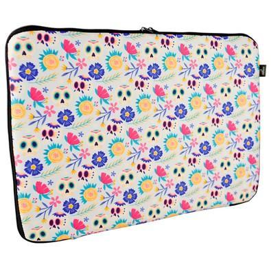 Case Reliza Basic para Notebook até 15.6´, Caveira Floral