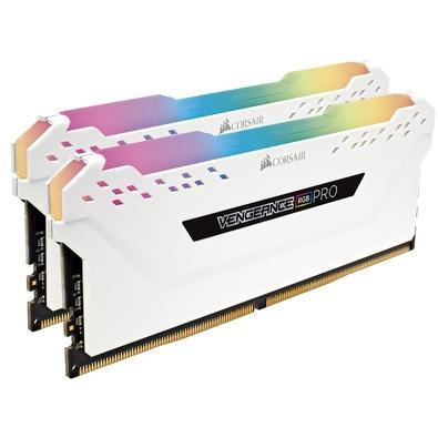Memória Corsair Vengeance RGB Pro, 32GB (2x16GB), 3200Hz, DDR4, C16, Branca - CMW32GX4M2C3200C16W