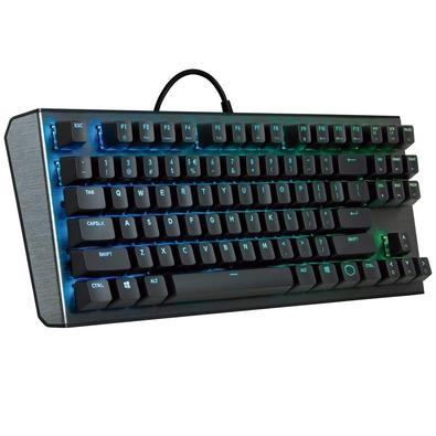 Teclado Mecânico Gamer Cooler Master, RGB, Switch Gateron Red, US - CK-530-GKGR1