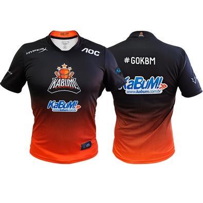 Camiseta Uniforme Oficial KaBuM! e-Sports 2019, Orange Ninja, Dry-Fit, Tamanho G