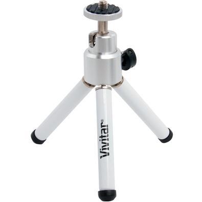 Tripé Fotográfico Vivitar, Compacto, Altura 15cm, Branco e Prata - VIVMPT100W