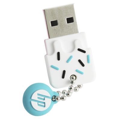 Pen drive HP Mini V178B, 16GB, USB 2.0, Azul - HPFD178B-16