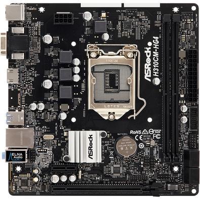 Placa-Mãe ASRock H310CM-HG4, Intel LGA 1151, mATX, DDR4