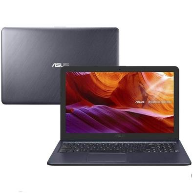 Notebook Asus Celeron Dual Core, 4GB, 500GB, Windows 10 Home, Cinza Escuro - X543MA-GO594T