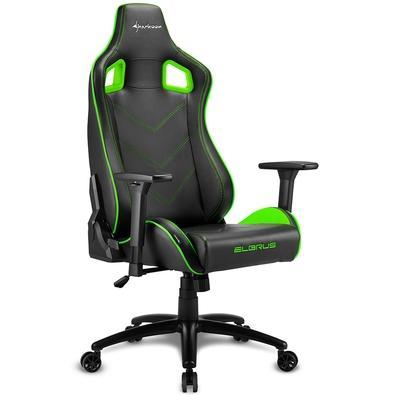 Cadeira Gamer Sharkoon Elbrus 2, Black Green