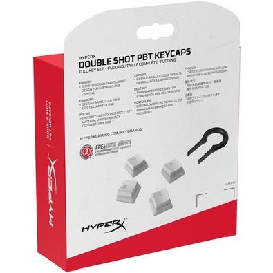 Capas para Teclas HyperX Double Shot PBT, Branco - HXS-KBKC4