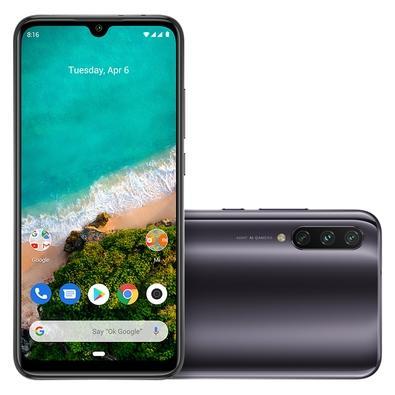 Smartphone Xiaomi Mi A3, 128GB, 48MP, Tela 6.088´, Cinza + Capa - CX281CIN