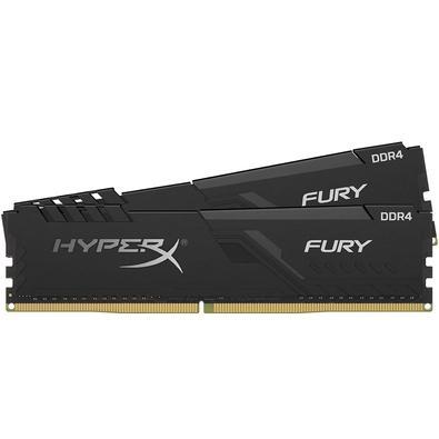 Memória Ram Fury 8gb Kit(2x4gb) Ddr4 2400mhz Hx424c15fb3k2/8 Hyperx