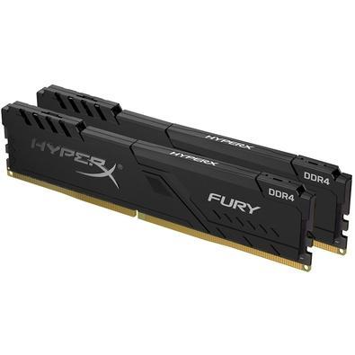 Memória HyperX Fury, 8GB (2x4GB), 2400MHz, DDR4, CL15, Preto - HX424C15FB3K2/8