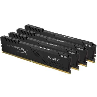 Memória HyperX Fury, 16GB (4x4GB), 2666MHz, DDR4, CL16, Preto - HX426C16FB3K4/16