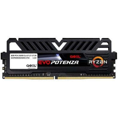 Memória Geil Evo Potenza, 8GB, 2400Mhz, DDR4, CL17 - GAPB48GB2400C17SC