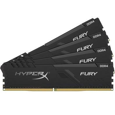Memória HyperX Fury, 16GB (4x4GB), 3000MHz, DDR4, CL15, Preto - HX430C15FB3K4/16
