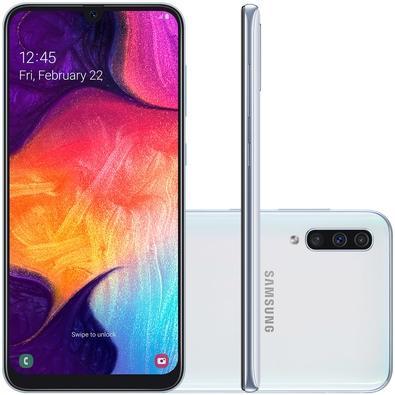 Smartphone Samsung Galaxy A50, 128GB, 25MP, Tela 6.4´, Branco - SM-A505GZWSZTO