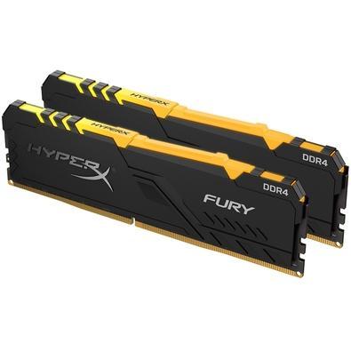 Memória HyperX Fury RGB, 32GB (2x16GB), 3466MHz, DDR4, CL16, Preto - HX434C16FB3AK2/32