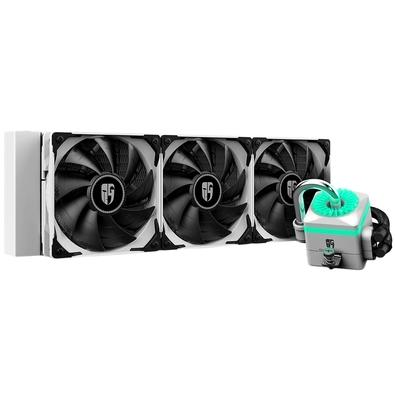 Water Cooler Deepcool Captain 360X White, 360mm, RGB - DP-GS-H12-CT360XR-WH