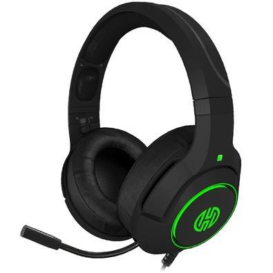 Headset Gamer Hoopson Archer LF80, LED, 7.1 Som Surround, Drivers 50mm, Verde - LF-080 G