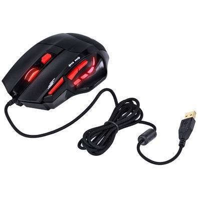 Mouse Gamer Vinik VX Gaming Black Widow, LED, 6 Botões, 2400DPI, Preto e Vermelho - GM102