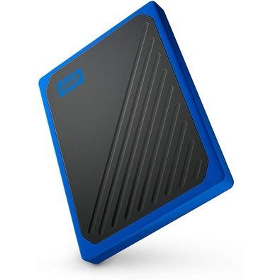 SSD Portátil WD My Passport Go, 1TB, Preto e Azul - WDBMCG0010BBT-WESN