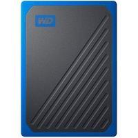 SSD WD Externo, Portátil, My Passport Go, 1TB, Preto e Azul - WDBMCG0010BBT-WESN