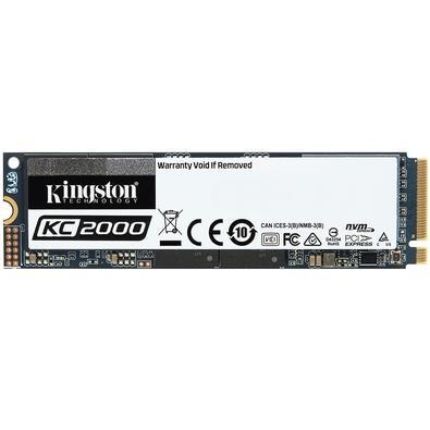 SSD Kingston KC2000, 250GB, M.2 NVMe, Leitura 3000MB/s, Gravação 1100MB/s - SKC2000M8/250G