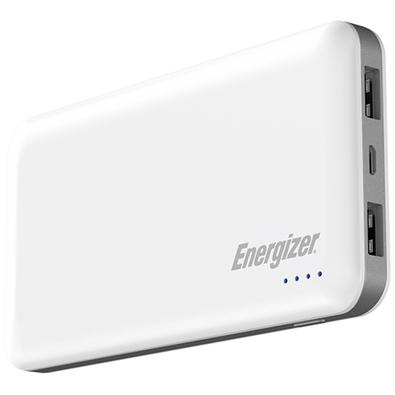 Power Bank Energizer UE10025QC High-Tech, 10000mAh, 2 USB, Cabo Micro USB, Branco - UE10025QCWH