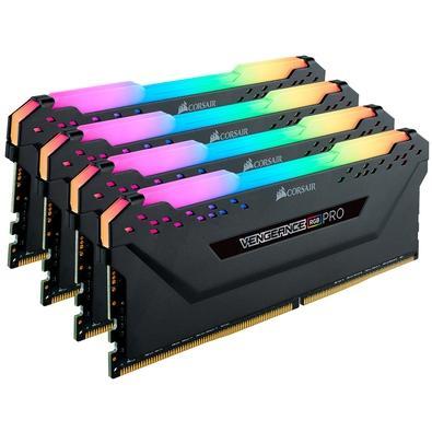 Memória Corsair Vengeance RGB Pro, 32GB (4x8GB), 3200MHz, DDR4, CL16 - CMW32GX4M4C3200C16