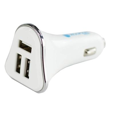 Carregador Veicular Hoopson, 3 USB, Branco - CEL-05
