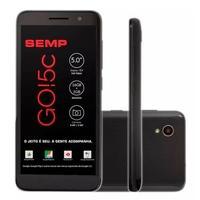 Smartphone Semp Go! 5c, 16GB, 8MP, Tela 5´, Preto + Película Protetora - GO5C-PTOP