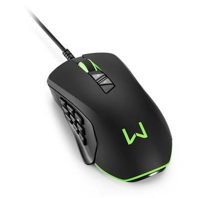 Mouse Gamer Warrior Moray, RGB, 14 Botões, 10000DPI - MO278