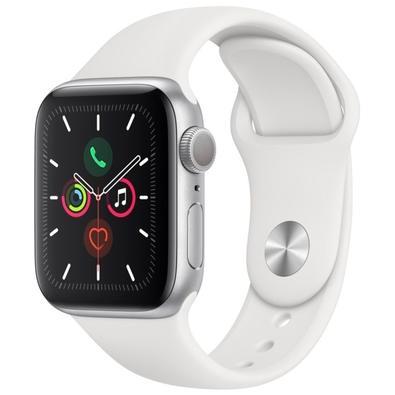 Apple Watch Series 5 Cellular, GPS, 44mm, Prata, Pulseira Branca - MWWC2BZ/A