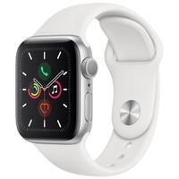 Apple Watch Series 5 Cellular, GPS, 44mm, Prata, Pulseira Branca - MWWC2BZ/A