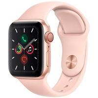 Apple Watch Series 5 Cellular + GPS, 40mm, Dourado, Pulseira Areia Rosa - MWX22BZ/A