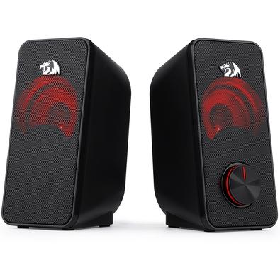Caixa de Som Redragon GS500 Stentor, LED, 5W x 2, P2 - GS500