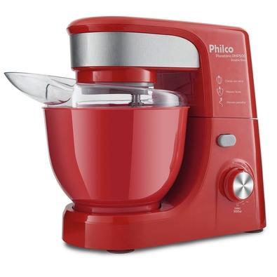 Batedeira Planetária Philco PHP500 Turbo Double Bowl, 11 Velocidades, 500W, 110V, Vermelha - 103401103