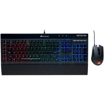 Teclado e Mouse Gamer Corsair RGB Harpoon e K55 - CH-9206115-NA