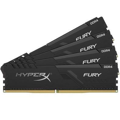 Memória HyperX Fury, 128GB (4x32GB), 3000MHz, DDR4, CL16, Preto - HX430C16FB3K4/128