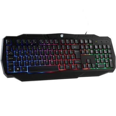 Kit Gamer Dazz Battlefire Revolution - Teclado, Rainbow, ABNT2 + Mouse, LED - 625021