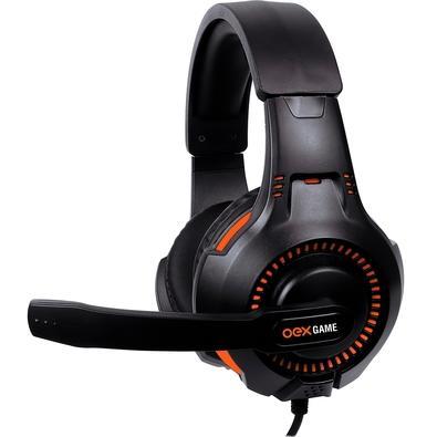 Headset Gamer Oex Game Gorky, Drivers 40mm, Preto/Laranja - HS413