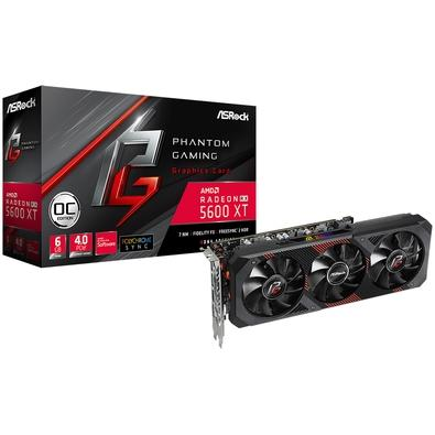 Placa de Vídeo ASRock AMD Radeon RX 5600 XT Phantom Gaming D3 OC, 6GB, DDR6 - 90-GA1VZZ-00UANF