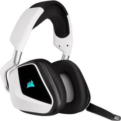 Headset Gamer Corsair Void Elite Wireless, RGB, 7.1 Surround, Drivers 50mm, Branco - CA-9011202-NA