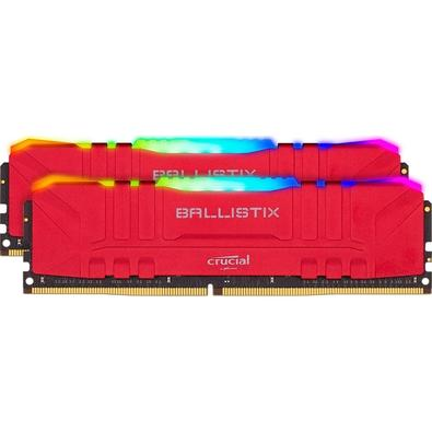Memória Ram Ballistix 16gb Kit(2x8gb) Ddr4 3000mhz Bl2k8g30c15u4rl Crucial