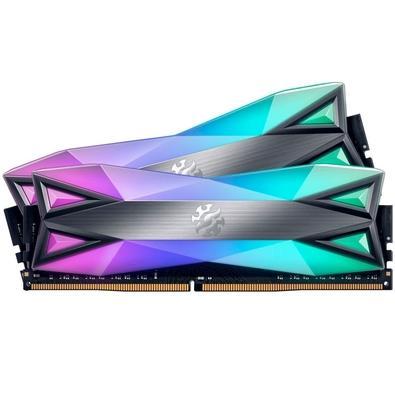 Memória XPG Spectrix D60G, RGB, 32GB (2x16GB), 3600MHz, DDR4, CL18, Cinza - AX4U3600316G18A-DT60